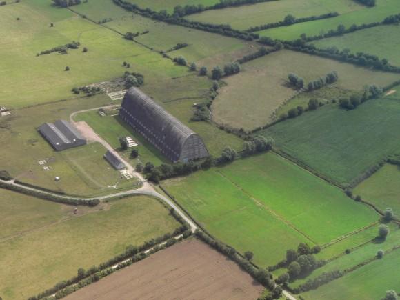 Le hangar à dirigeables d'Ecausseville dans la Manche