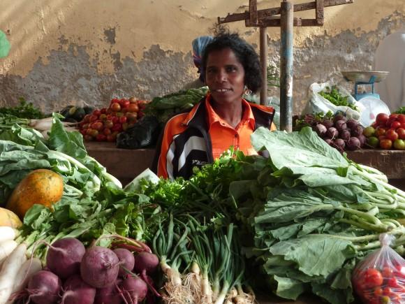 Sur le marché de Mindelo, au Cap-Vert