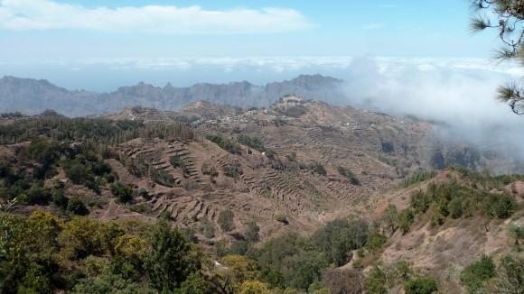 Vue de la Corda, la route des crêtes de l'île de Santo Antao, Cap-Vert