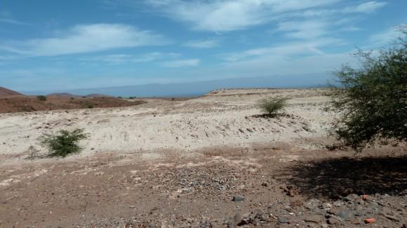 Le côté aride de Santo Antao au Cap-Vert