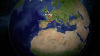 Le trajet de mon voyage de quatre mois