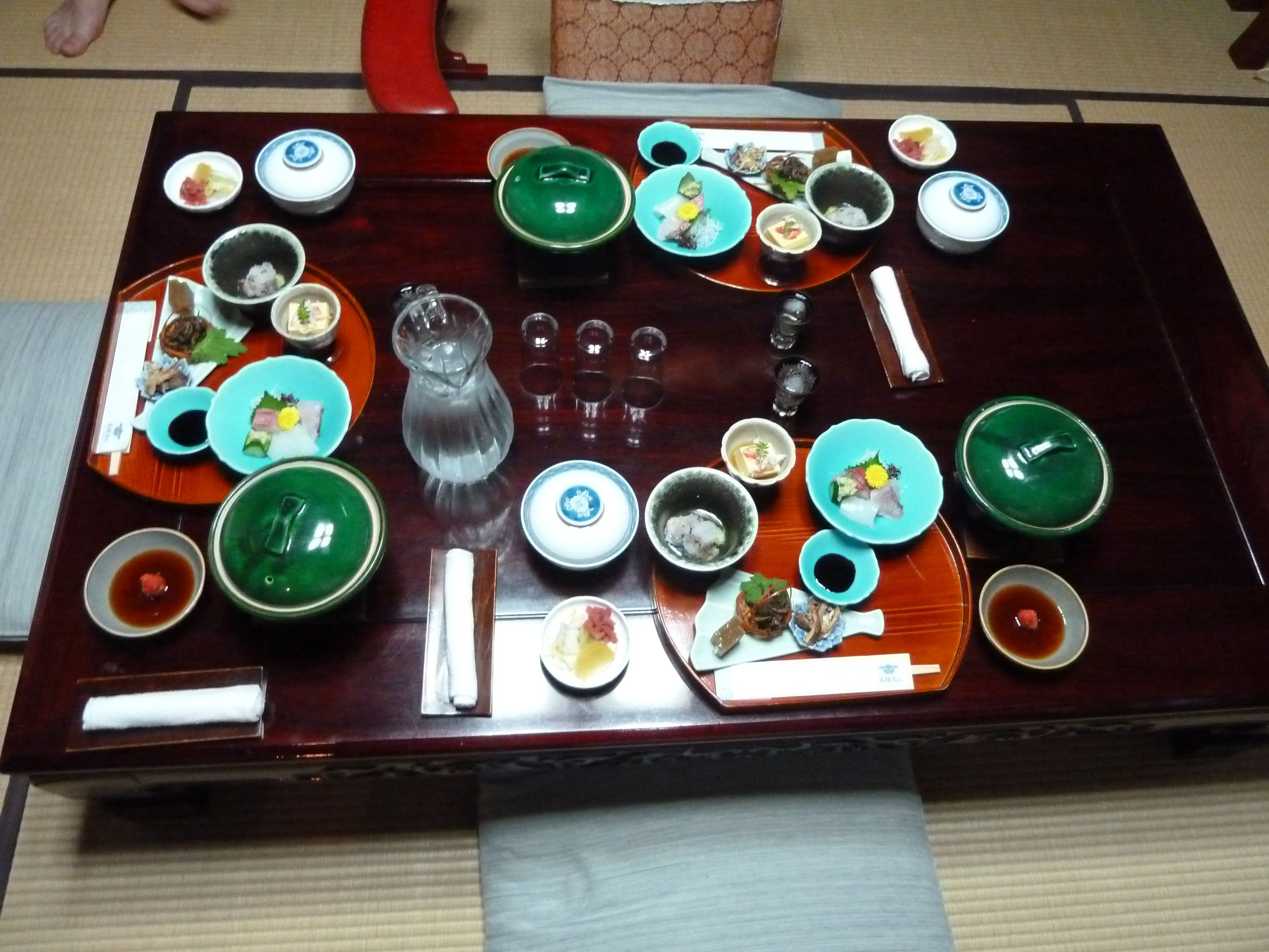 Repas au ryokan, à Takayama