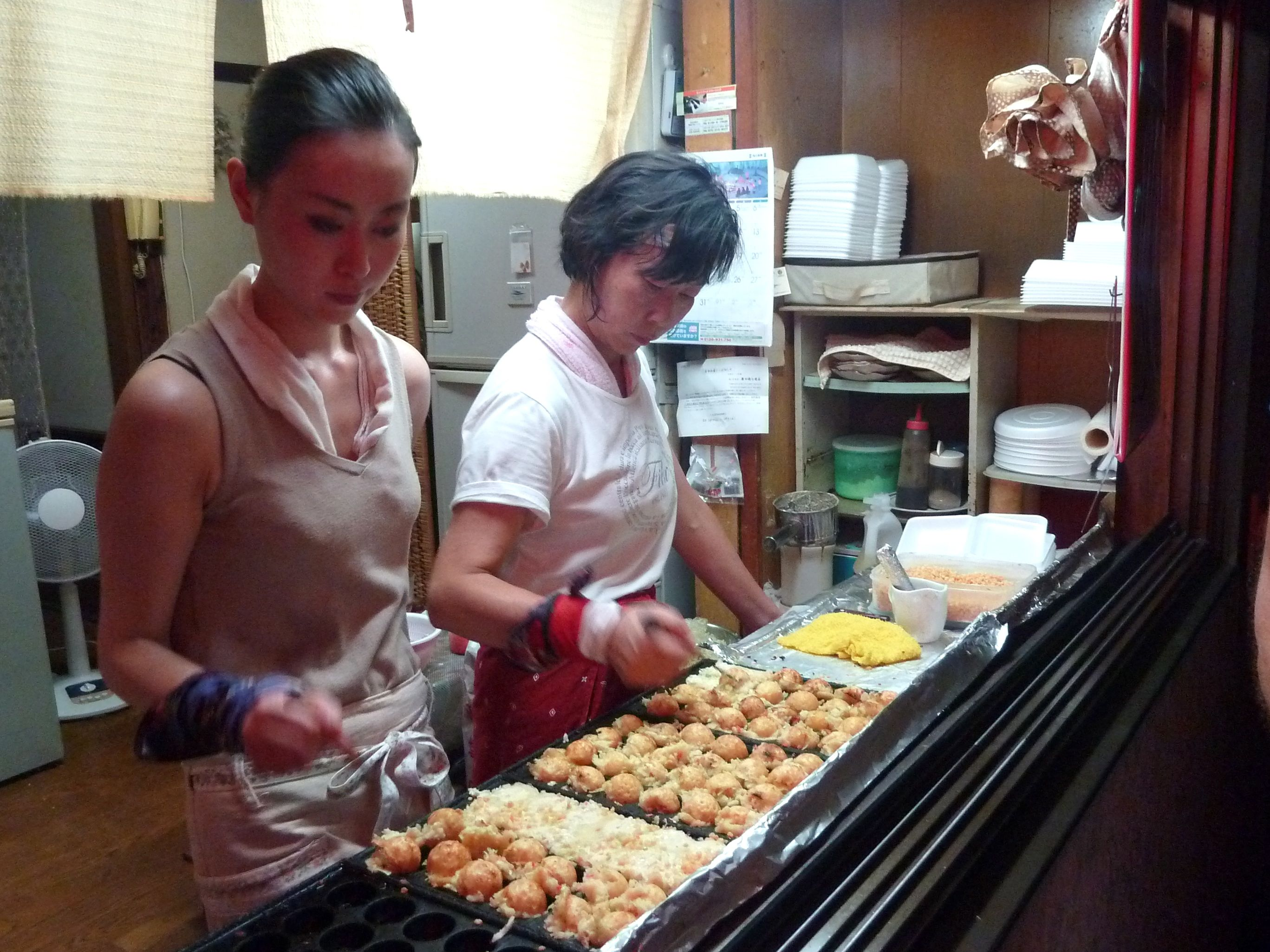 Boulettes de beignet de poulpe, un soir de feu d'artifice