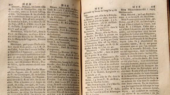 Le dictionnaire géographique-portatif : Mer du Sud.