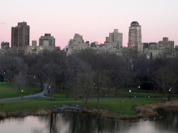 Central Park un soir d'hiver.