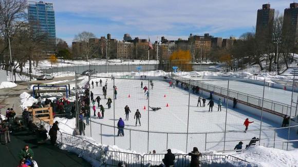 La patinoire, côté Harlem à Central Park