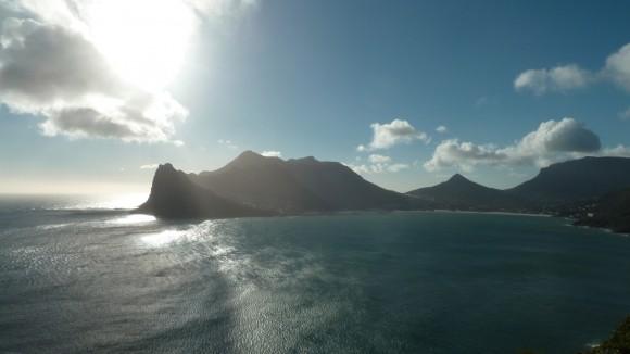 Le paysage à partir de Chapman's peak drive (péninsule du Cap, Afrique du Sud)
