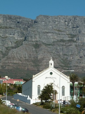 Au District six, seuls les édifices religieux n'ont pas été rasés (Le Cap, Afrique du Sud)