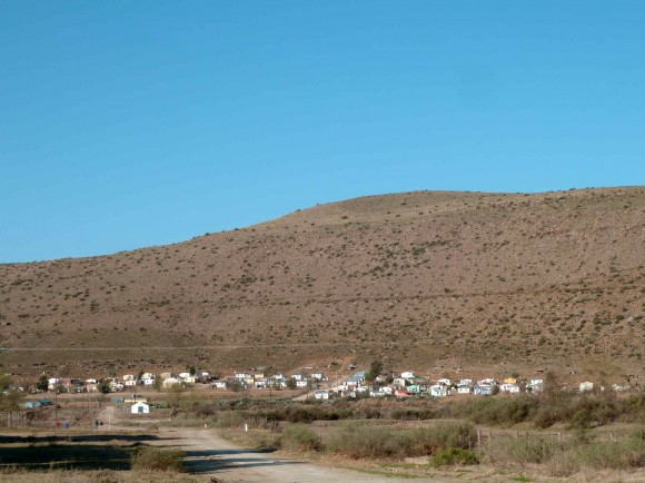 Le township de Nieu-Bethesda, dans le Karoo.