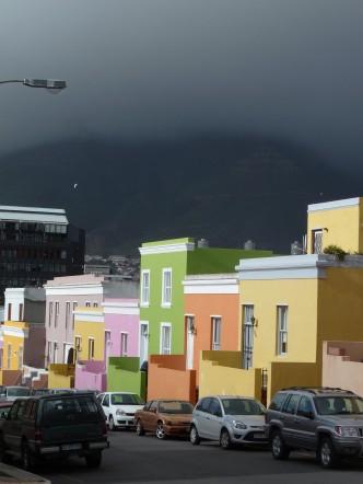 Quartier de Bo-Kaap, au Cap, en Afrique du Sud.