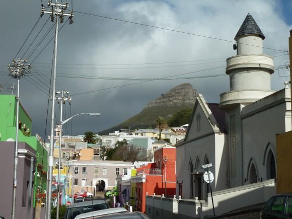 Mosquée dans le quartier de Bo-Kaap, au Cap, en Afrique du Sud.