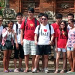 Des touristes au Pura Taman Ayun (Bali)