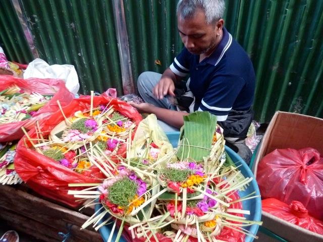 Sur le marché d'Ubud, à Bali