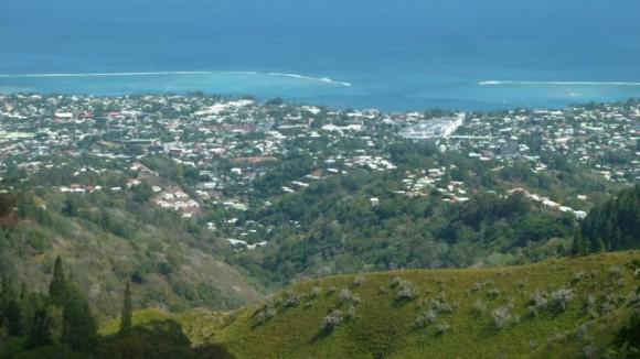 L'agglomération de Papeete vue du Belvédère.