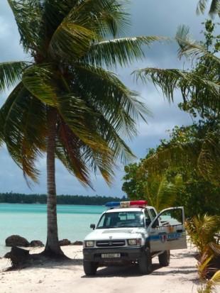 Police municipale à Maupiti.