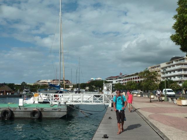 Le front de mer à Papeete.