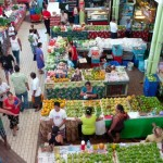 Marché municipal, à Papeete.