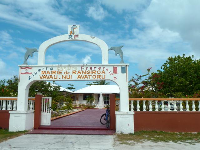 Mairie de Rangiroa.