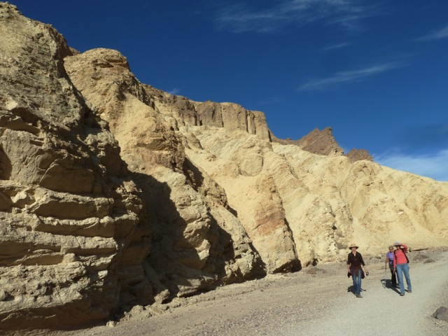 Death Valley. Golden canyon.
