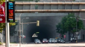 L'un des tunnels de Downtown Los Angeles.