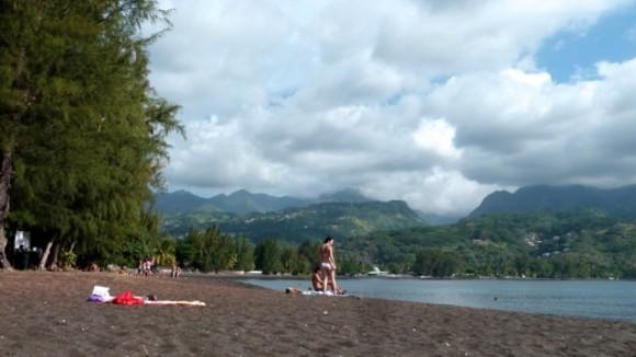Pointe Vénus, à Tahiti.