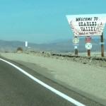 A l'arrivée à Trona, Californie.