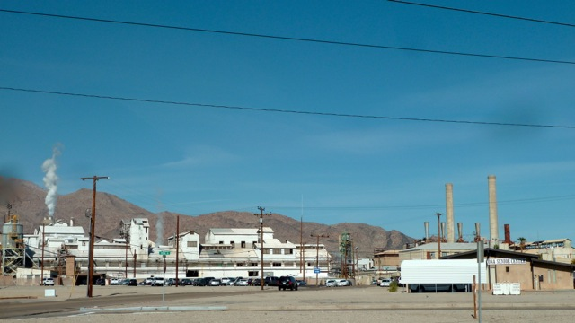 Usine de Trona, Californie.