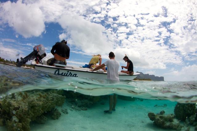 A Maupiti, en Polynésie française.