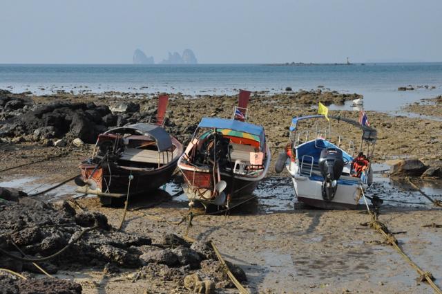 Marée basse à Ao Panka Noi, à Koh Bulon, Thaïlande.