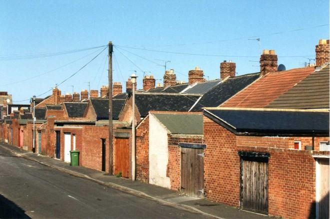 Une rue de Sunderland.