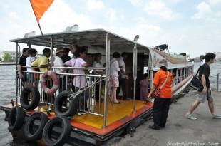 Le Chao Phraya express, à Bangkok.
