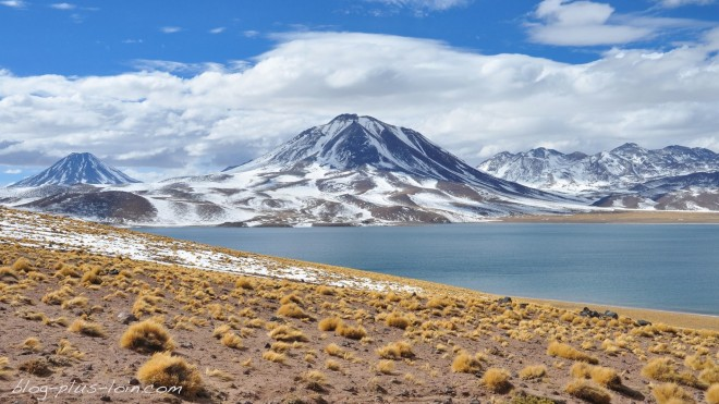 Lagunas Miscanti et Minique. Chile.