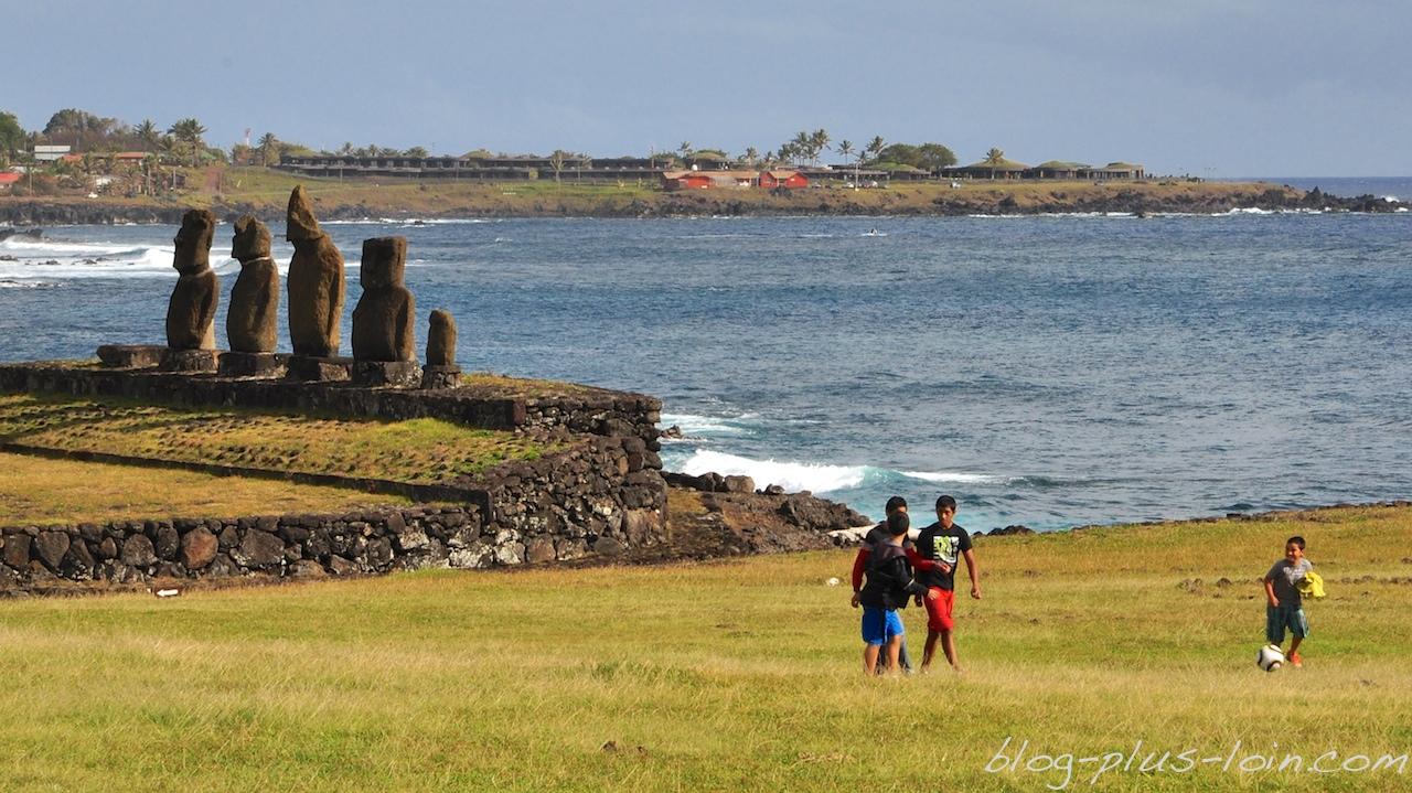 Secteur de Tahai, à Rapa Nui.