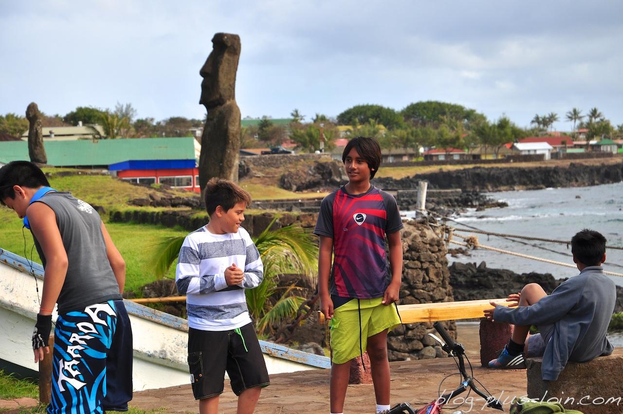 Hanga Roa, à Rapa Nui. Île de Pâques 2013.