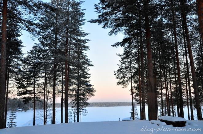 Matin de janvier en Finlande.