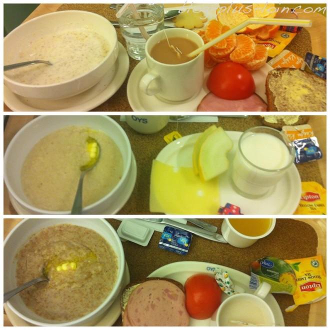 Petits-déjeuners à l'hôpital d'Oulu.