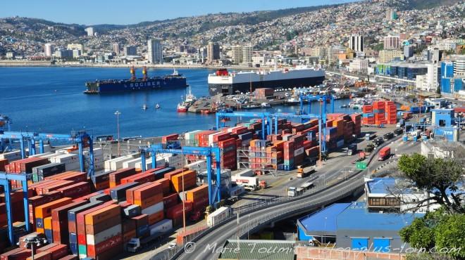 Le port de Valparaiso en 2013.