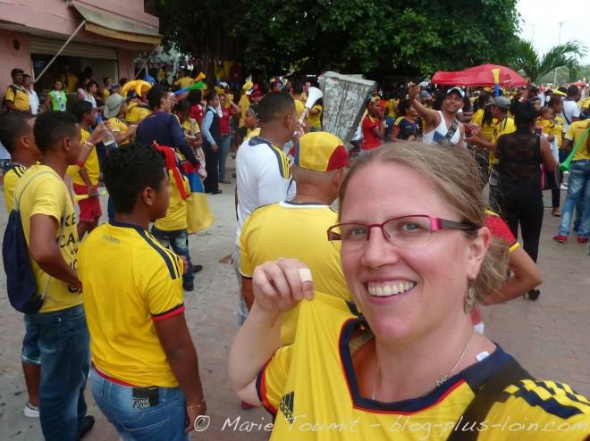 Dans mon maillot colombien
