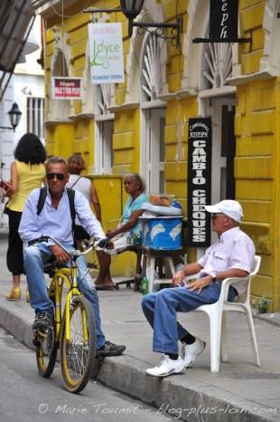 Dans le centre ancien, de Carthagène. Colombie.