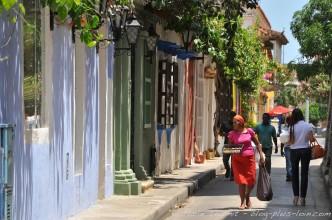Le centre historique de Carthagène. Colombie.