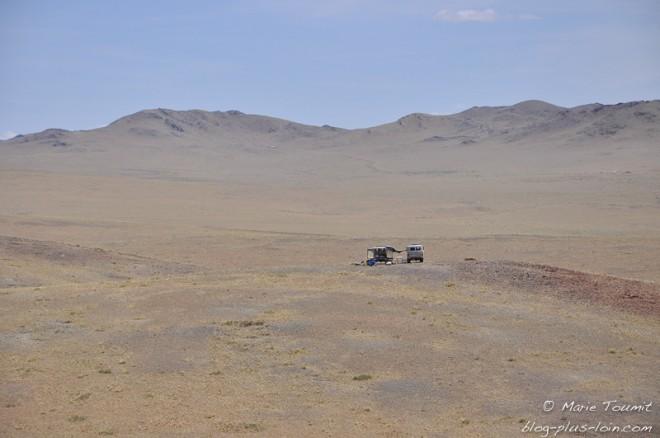 Mongolie: premier pique-nique.