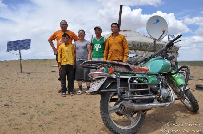 Famille mongole.