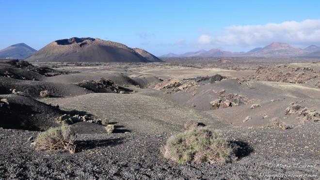 Volcan El Cuervo, à Lanzarote (Canaries).