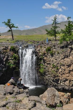 Chute de 20 m de la vallée de l'Orkhon, en Mongolie.